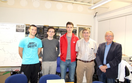 Warwick Engineering Team with Mike Meakin